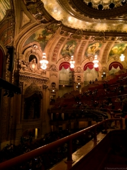 View from the Loge section at the Chicago Theatre