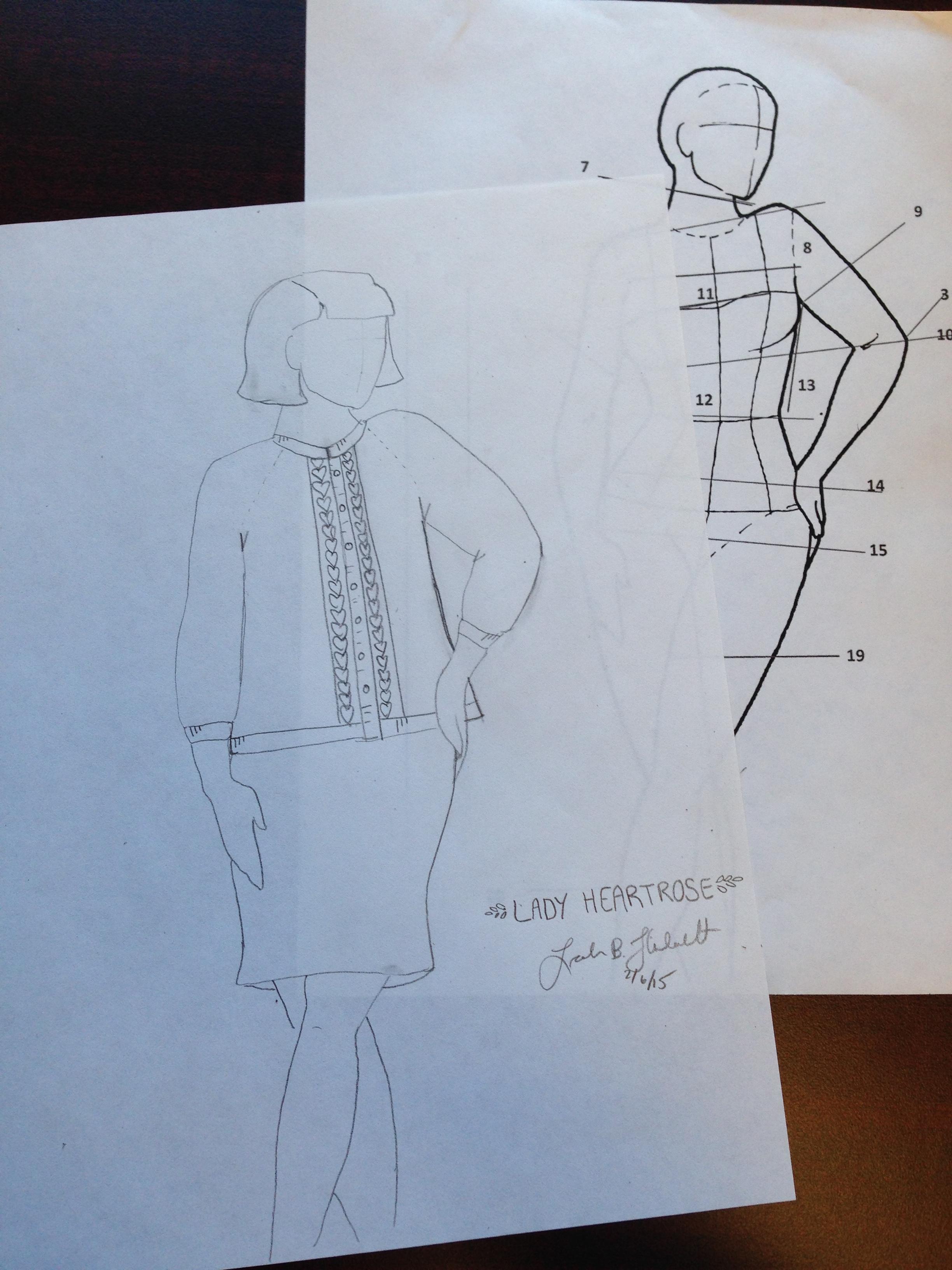Lady Heartrose Sketch