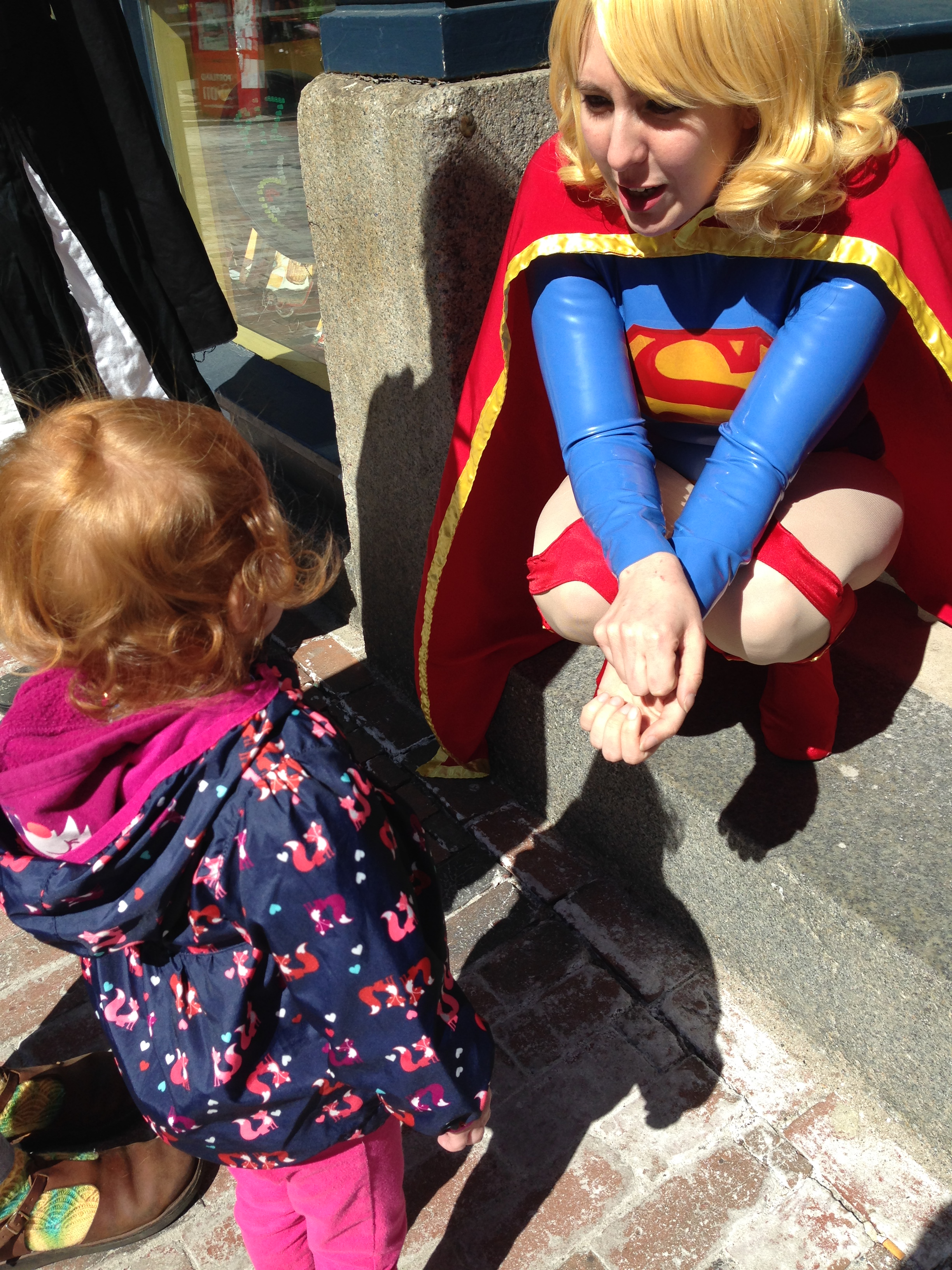 Chatting with Supergirl