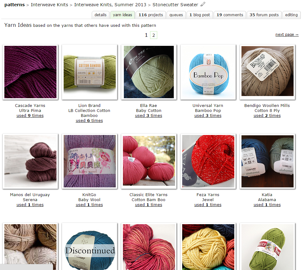 Using Ravelry to Find a Yarn Substitution - Ms. Cleaver Chronicles
