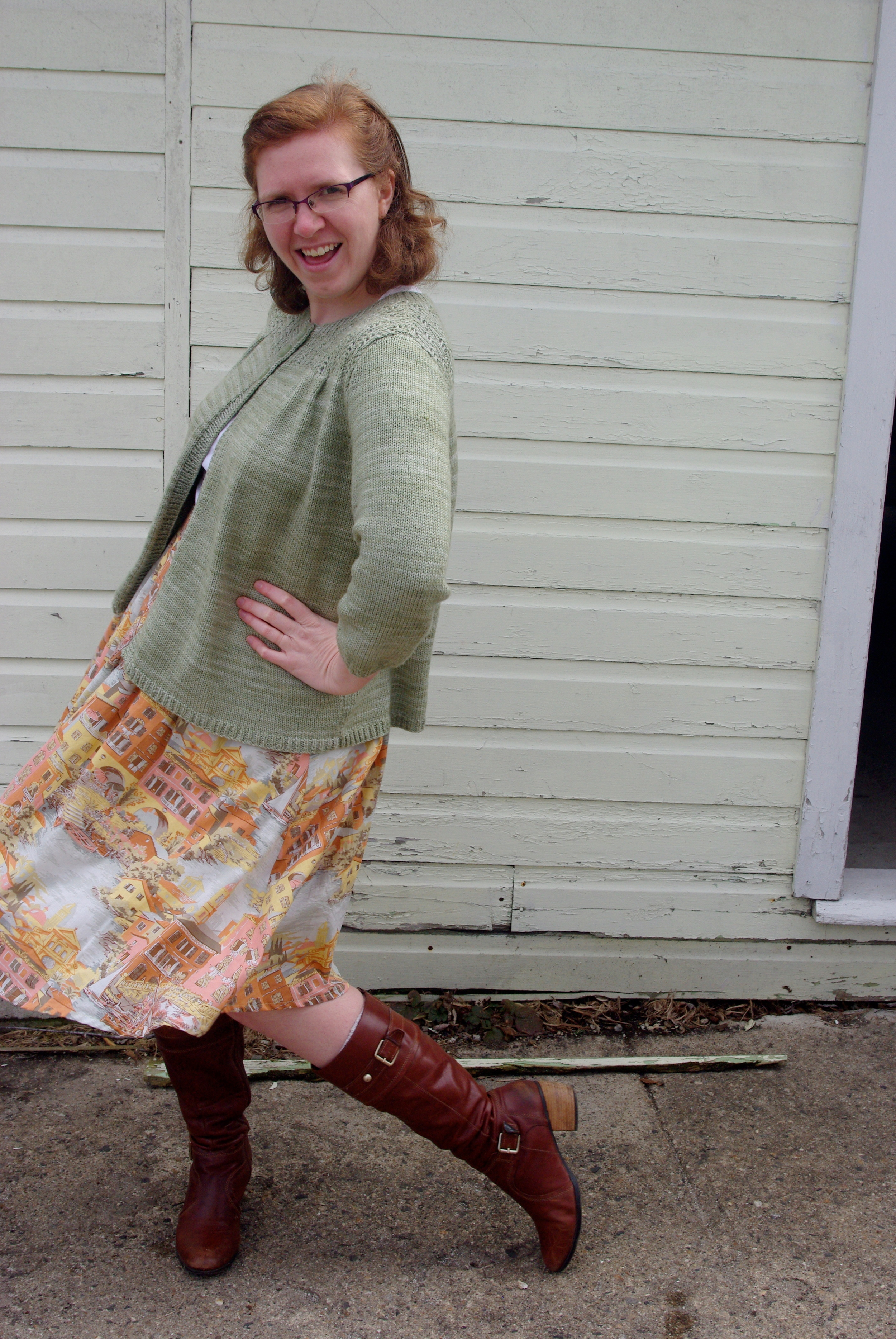 Colette Patterns Zinnia Skirt sewn by Ms. Cleaver