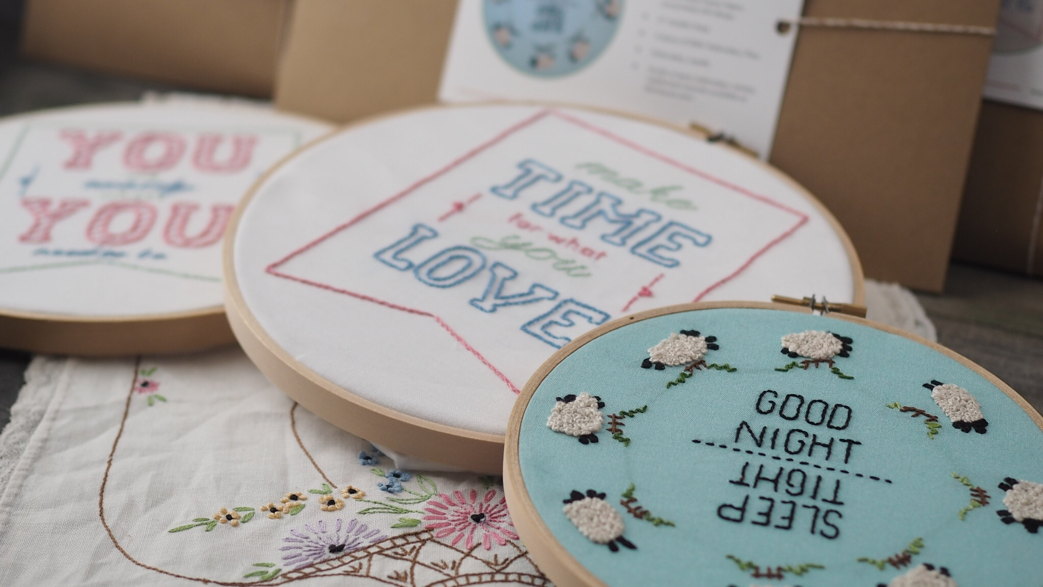 Embroidery Kits by Ms Cleaver Creations