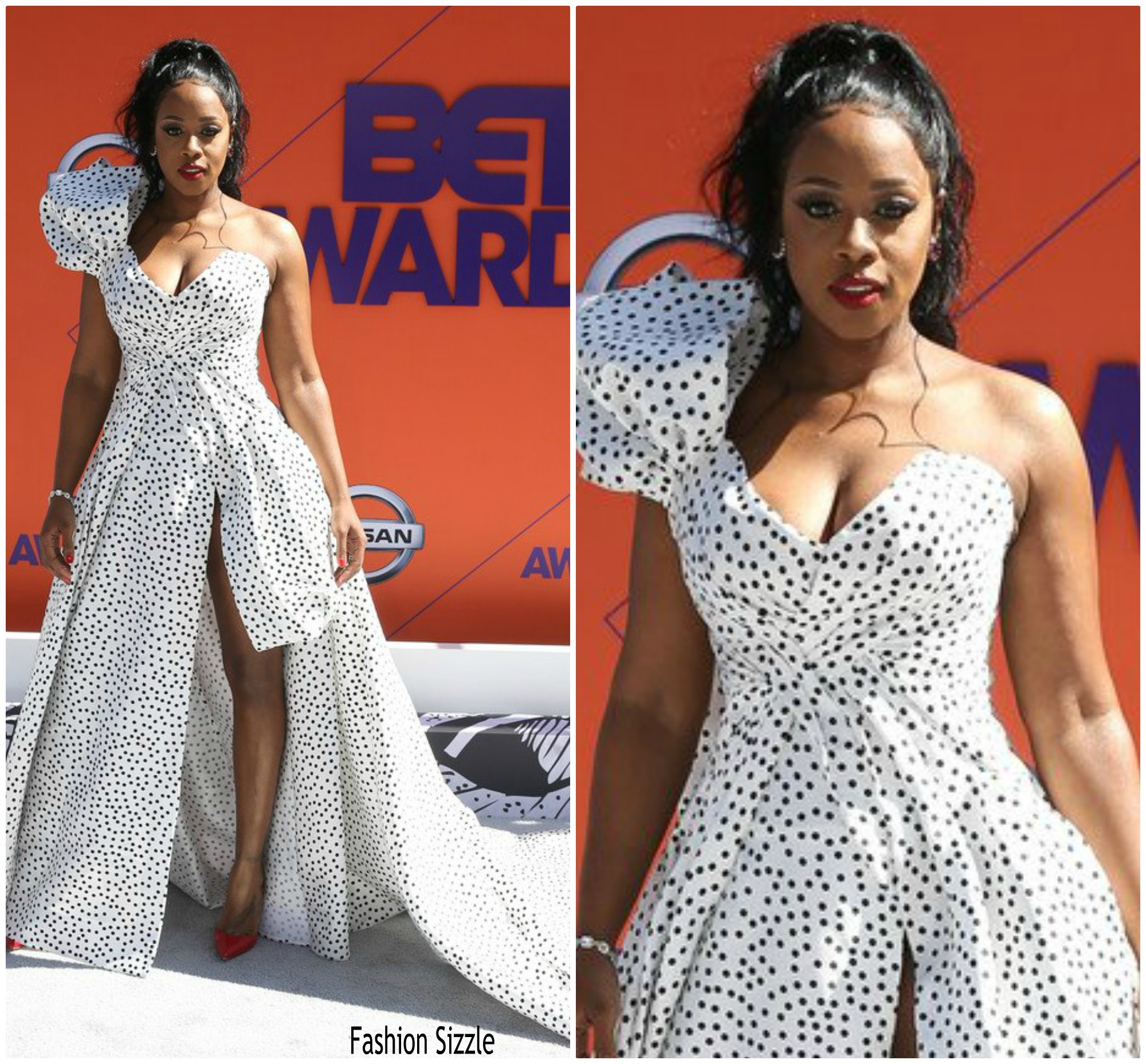 http://fashionbombdaily.com/the-hottest-looks-from-the-2018-bet-awards-remy-ma-in-karen-sabag-cassie-in-michael-sky-amber-rose-in-bryan-hearns-and-more/    https://www.eonline.com/photos/24843/bet-awards-2018-red-carpet-arrivals/854599