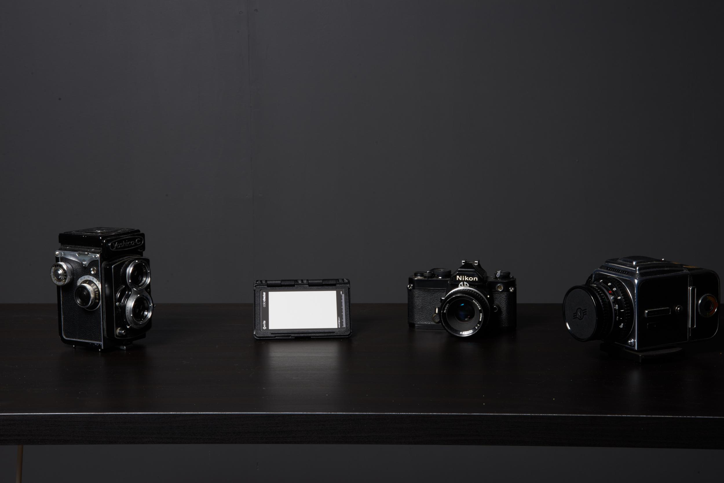 De test opstelling. Camera Nikon D610, Lens: Sigma 24-105 Art