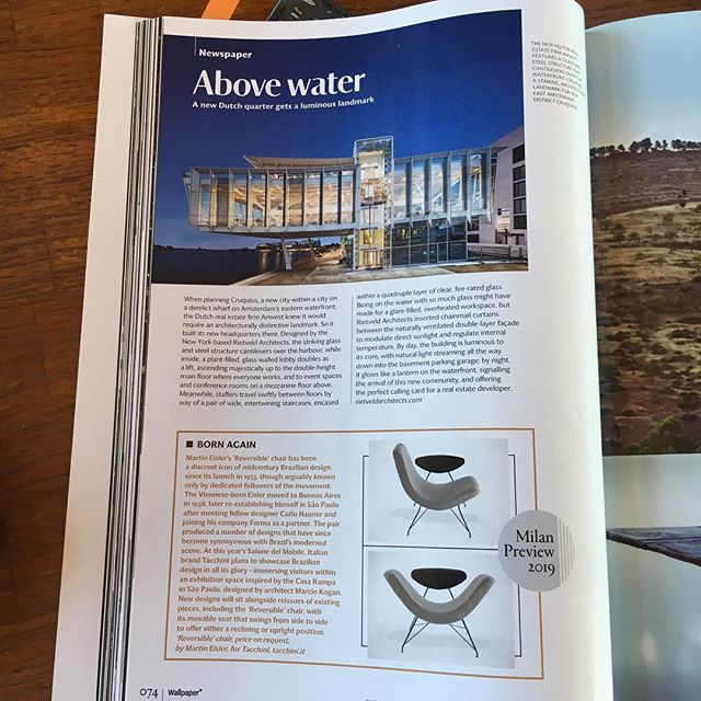 So excited that our Amvest hq was featured in the May issue of Wallpaper*!