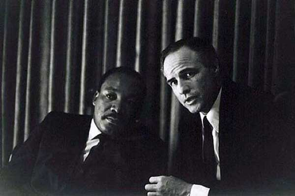 MLK and Marlon Brando