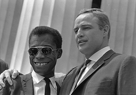 James Baldwin and Marlon Brando  ©Courtesy   National Archives