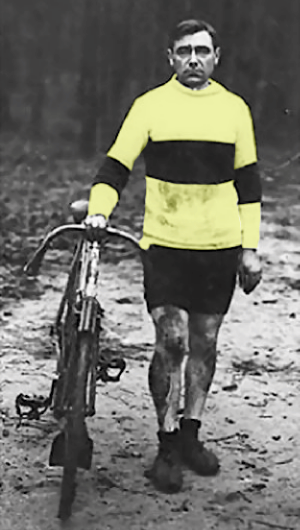 "Eugéne Christophe, first man to wear 'Maillot Jaune"" in the TdF"