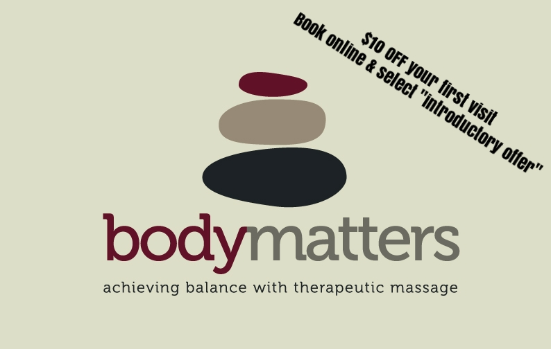 bodymatters - Body Matters is a team of highly trained and experienced sports and remedial massage therapists who have knowledge of how our bodies work and move, and the stresses we put on them.Whether you are training for Ironman, playing your team sport, or simply being active to keep fit and healthy, Sports massage can prevent or speed up recovery of injury and flushes metabolic wastes.Contactanna@bodymatters.co.nz021 661 776www.bodymatters.co.nz