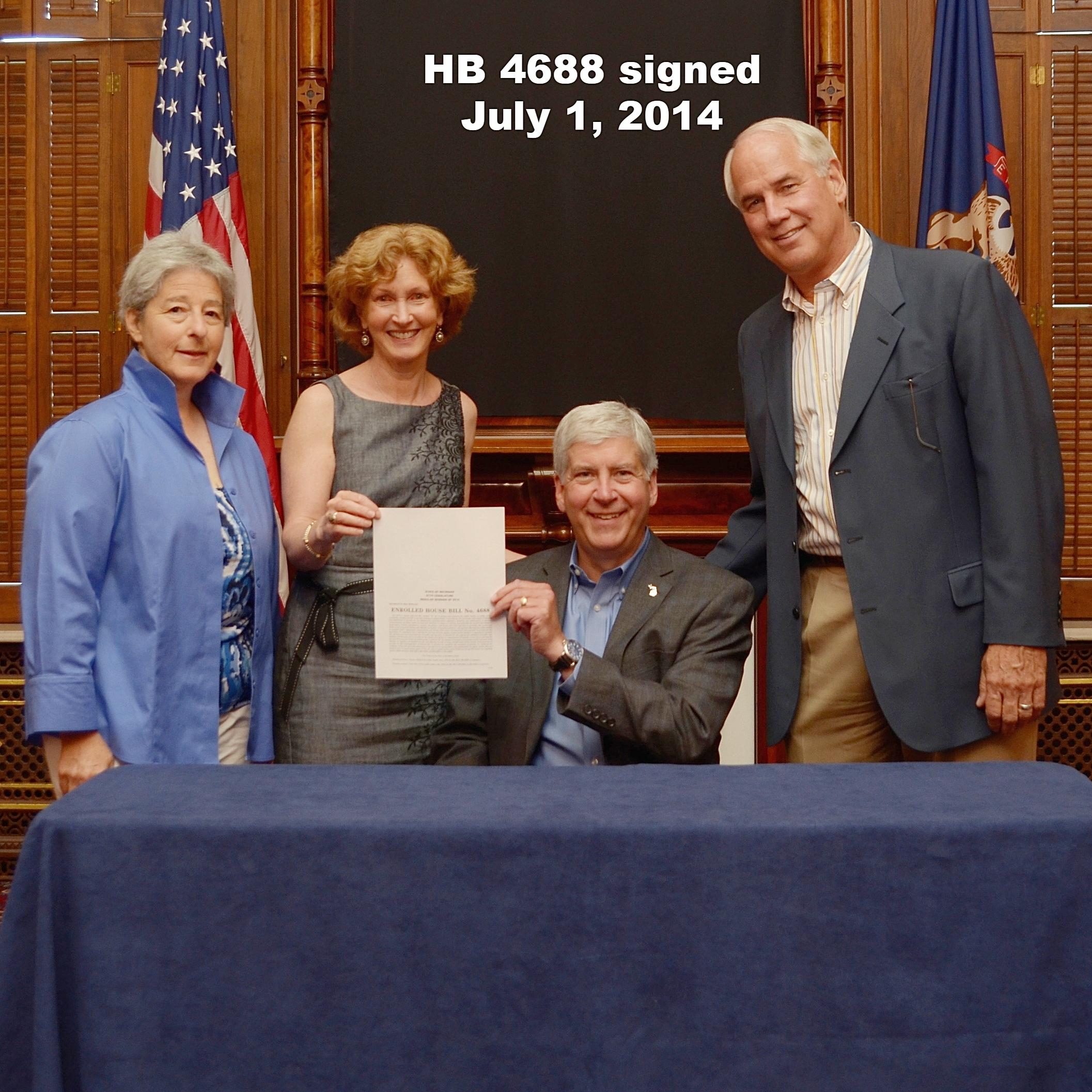 HB 4688 signed july 1, 2014