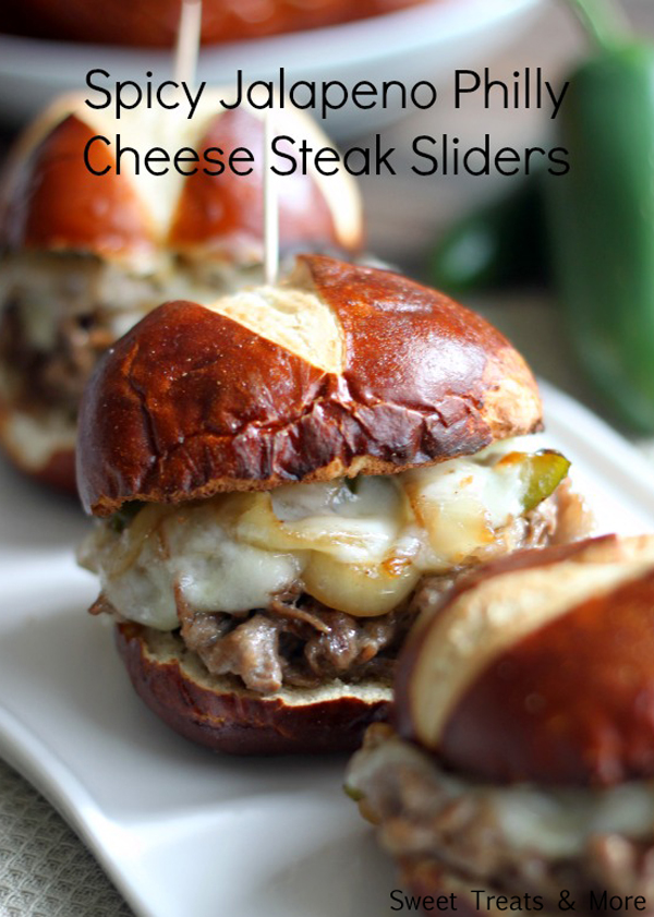 Nothing appeals to me like  melted cheese, onions, peppers and steak on a pretzel bun . Mmmmmm.