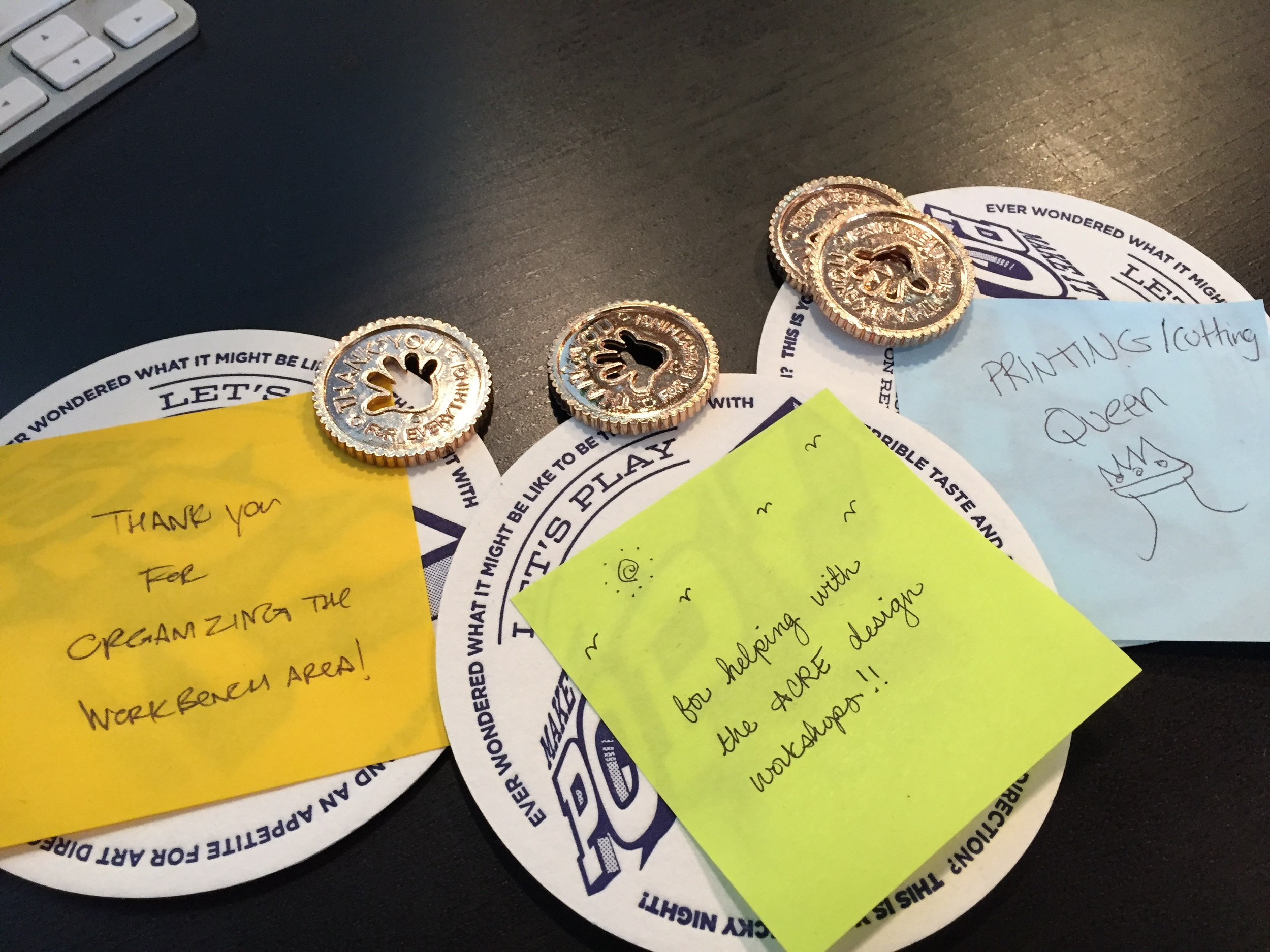 The Public Society, a graphic design firm in Brooklyn, created culture artifacts: tokens of appreciation.