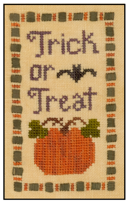 Trick Or Treat chart photo, copyright 2015 Elizabeth Needlework Designs