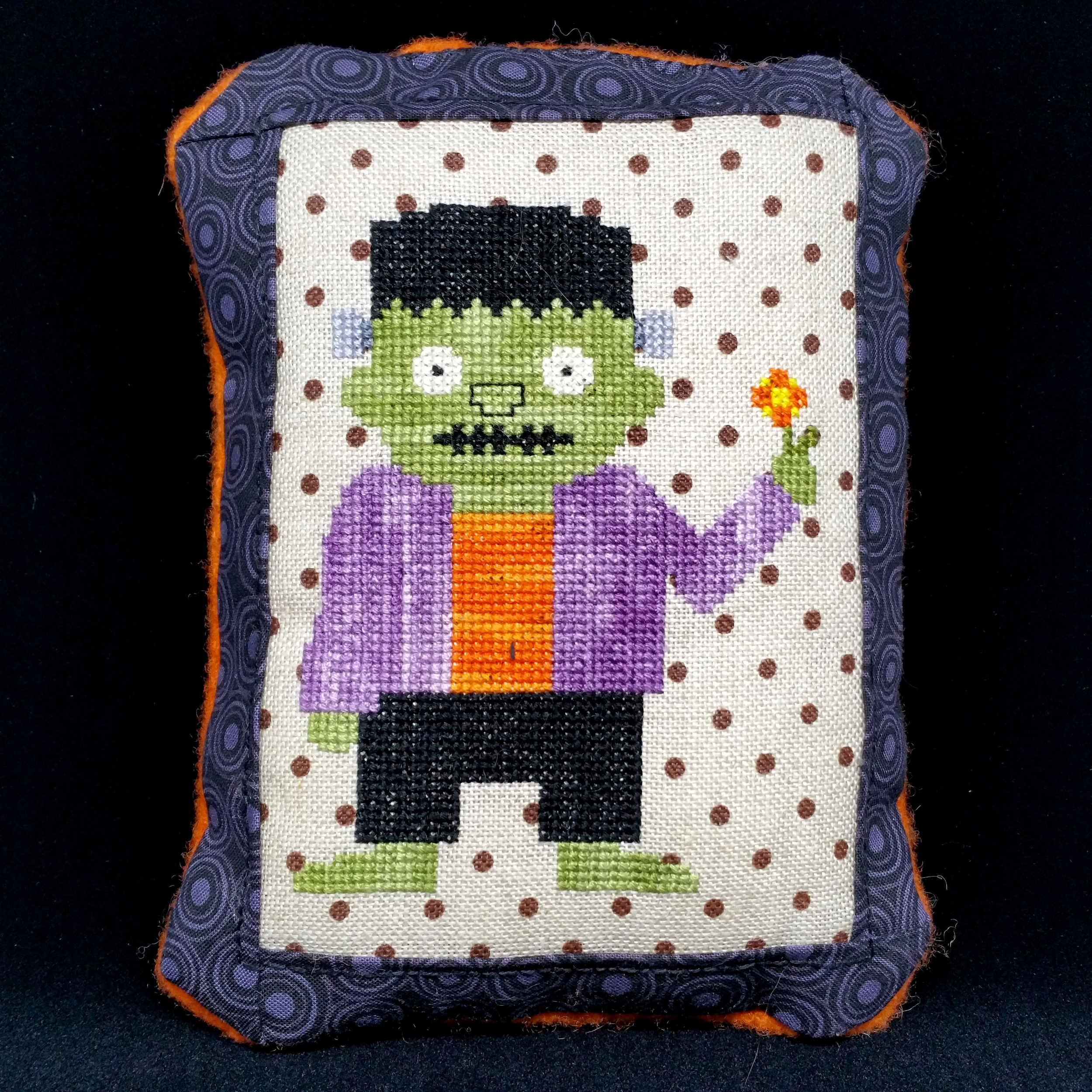 StitchyBox's Monster Boo, chart copyright DailyCrossStitch.com, stitched by Nadia