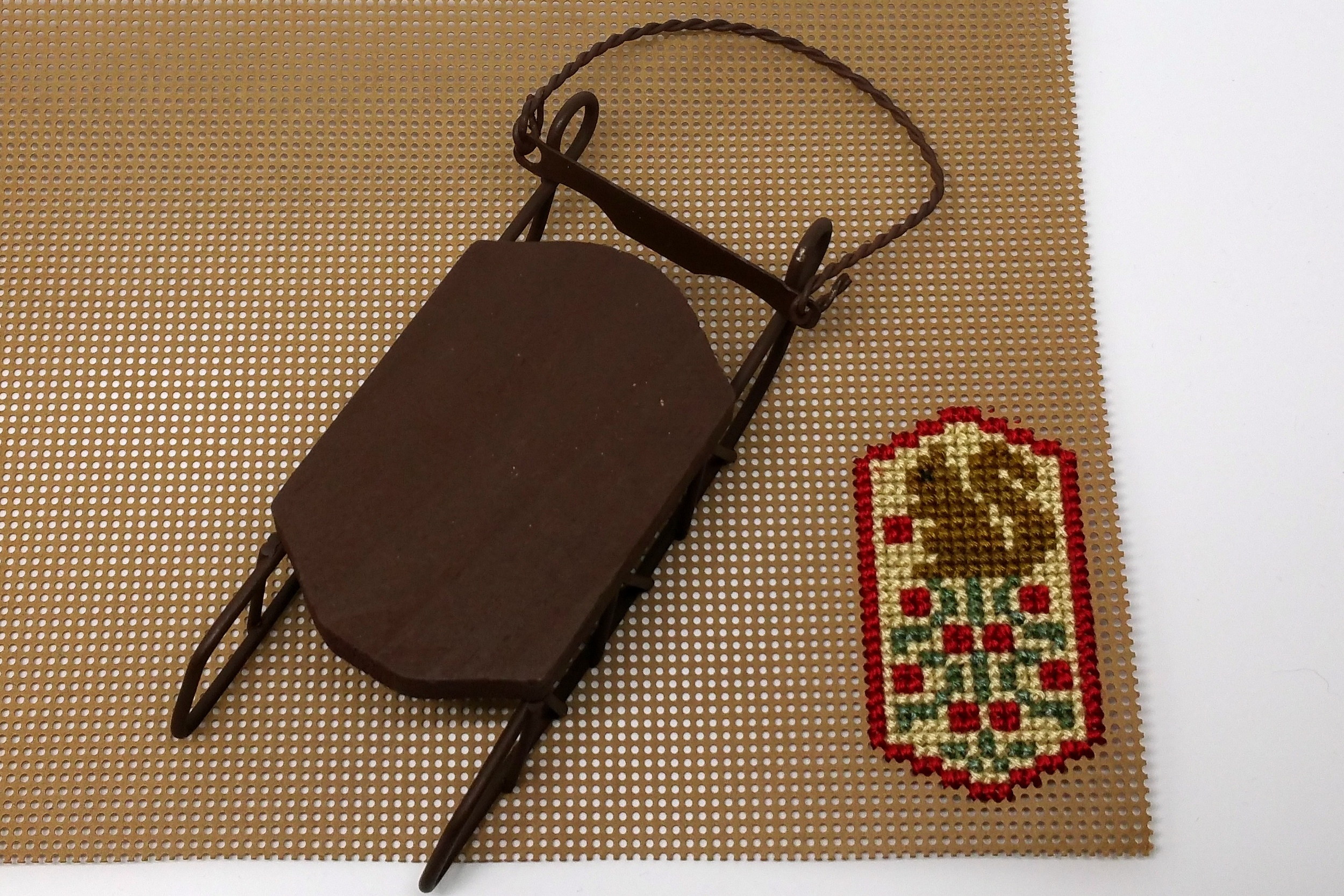 completed stitching with sled