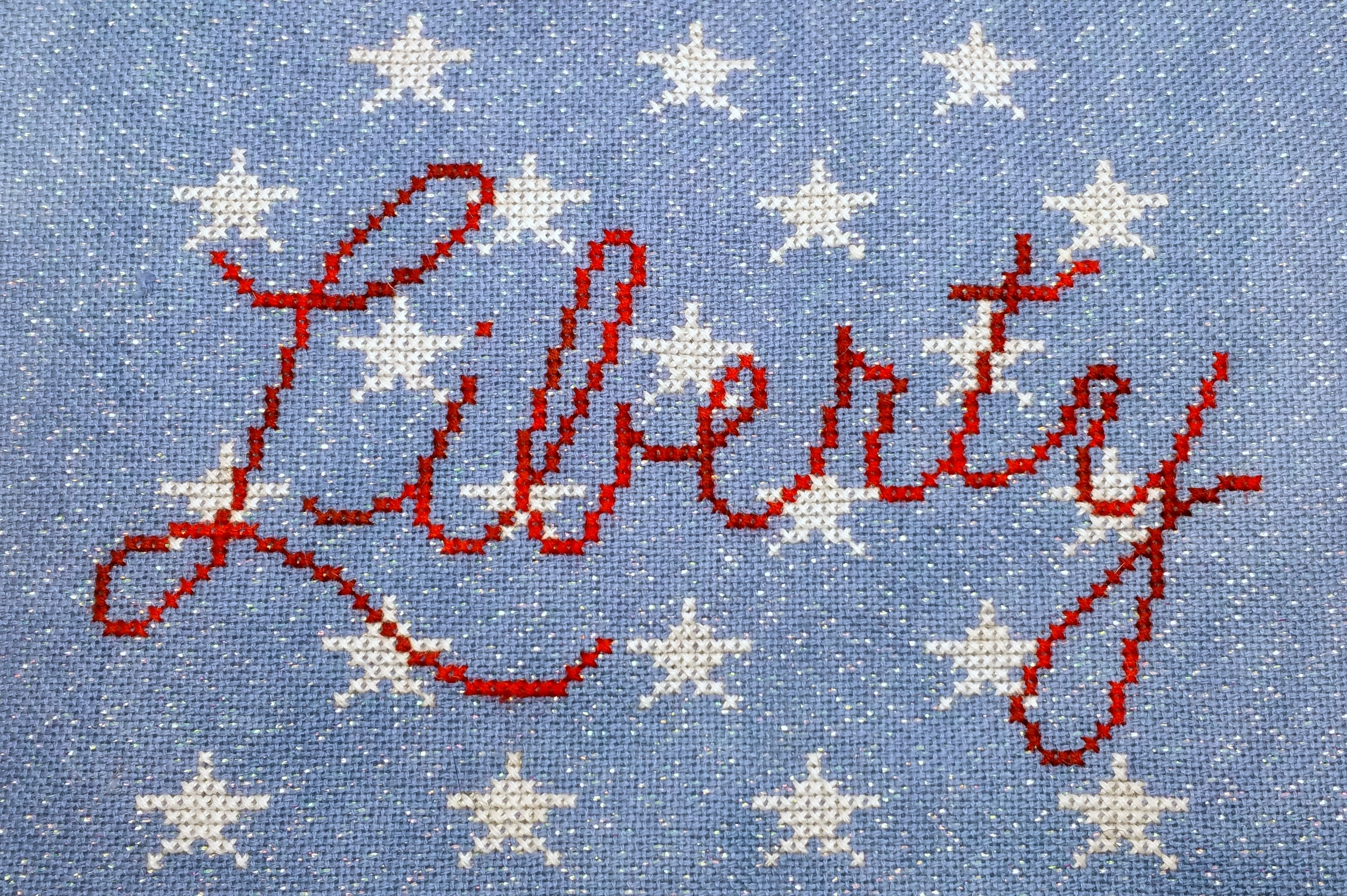 Liberty, stitched by our model stitcher Laurie