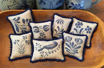 Stoneware Pillows II chart image, copyright Priscilla's Pocket 2015
