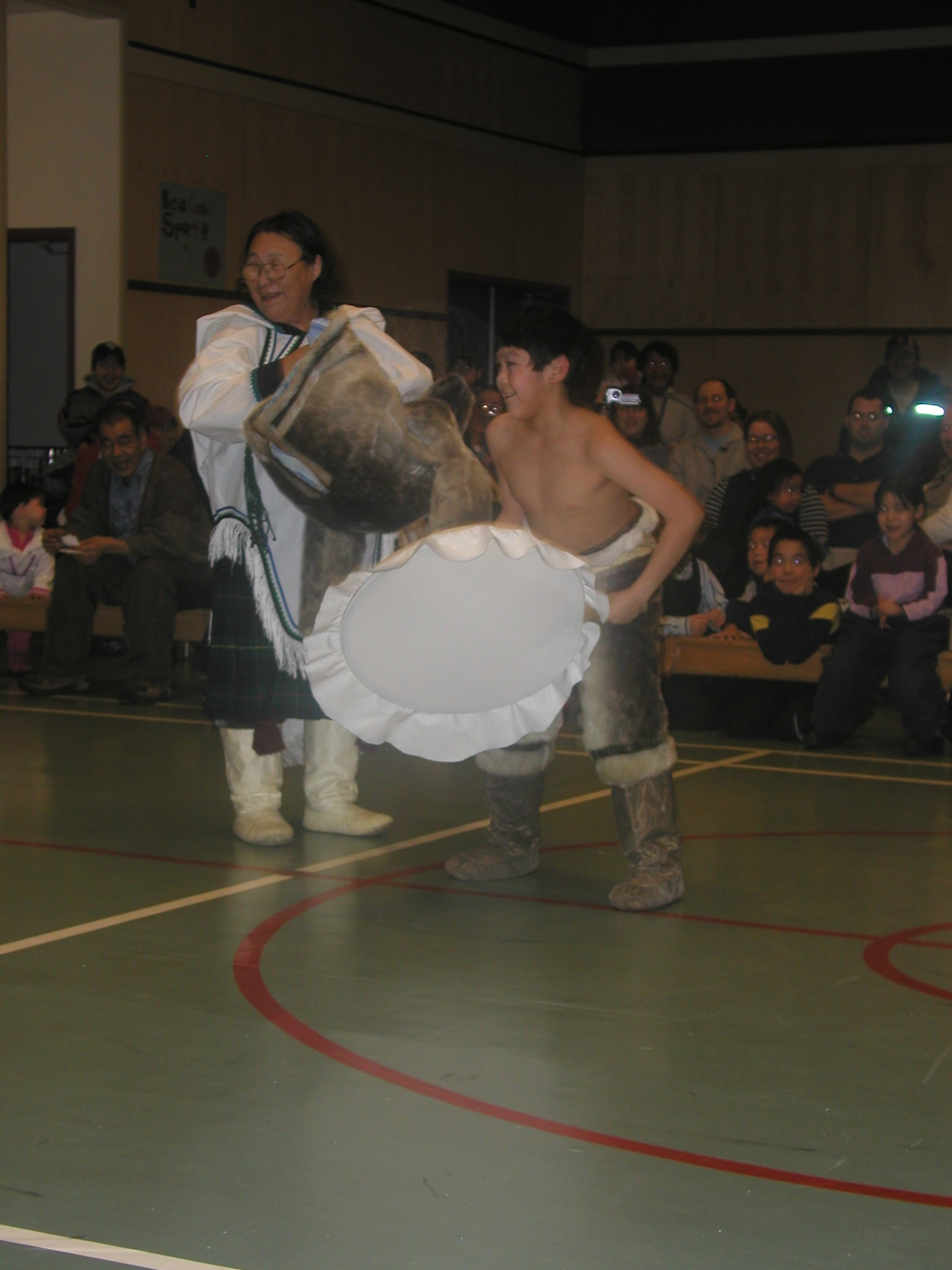 """Moments from Igloolik's Festival of the Return of the Sun, 2006. (See """"Stories and What They Do"""" in This is My Country, What's Yours? A Literary Atlas of Canada .)"""