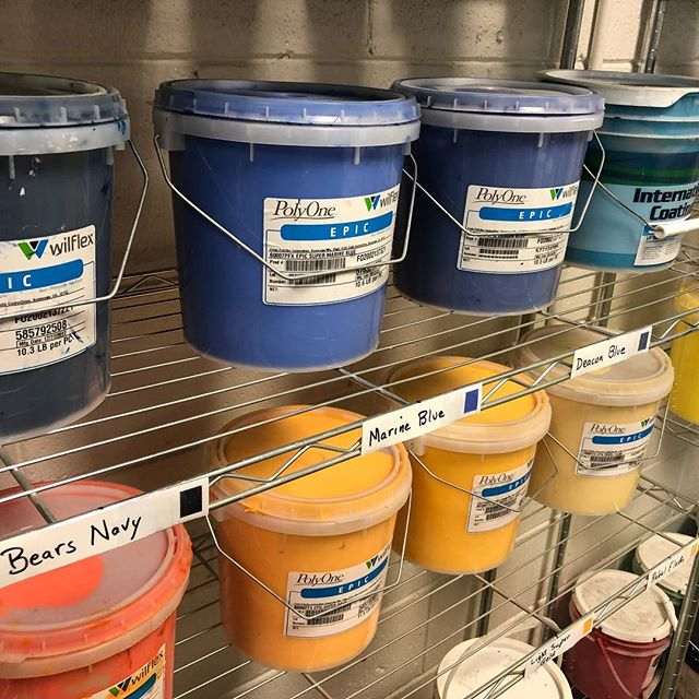 Continuous improvement of our processes so work is fun and easy. Labels help anyone find and replace our stock spot colors.