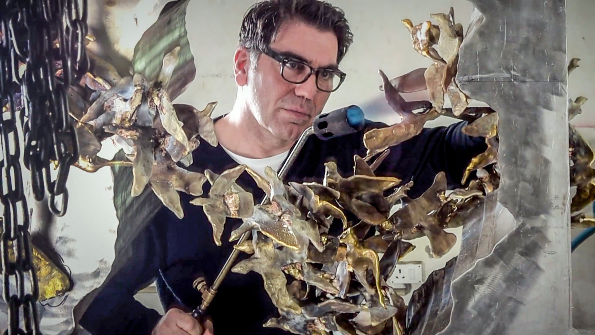 Michael Aram Wolohojian    Designer, Artist    Honoring his ancestors by creating a positive sculpture for reflecting on the present and future.