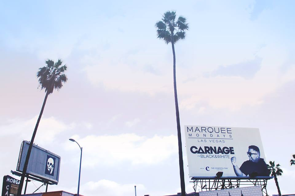 Carnage x Marquee Billboard design (Sunset Blvd. Los Angeles, CA)