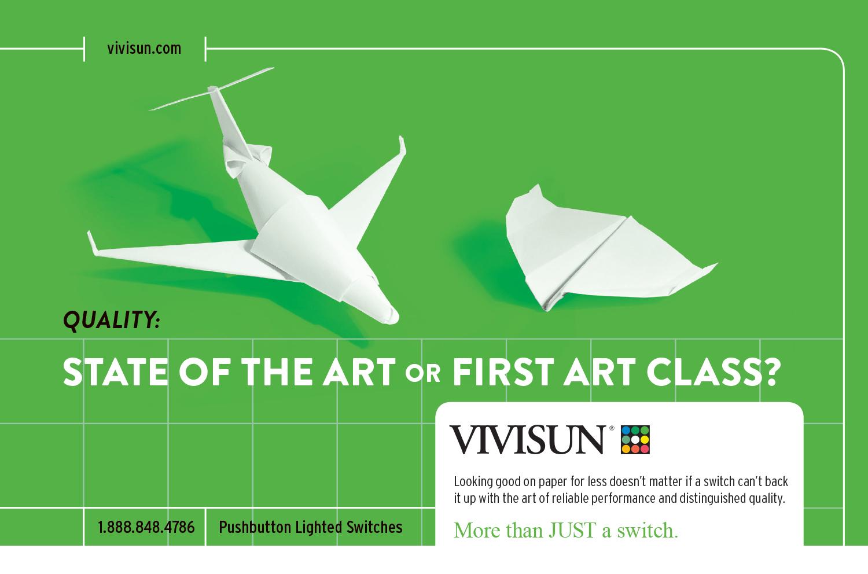 Vivisun Paper Private Jet Ad