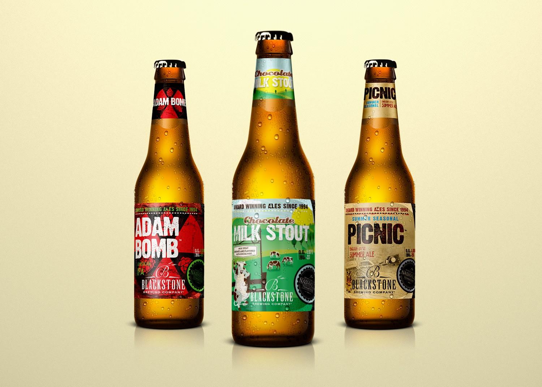 Blackstone Brewing Company Bottle Label