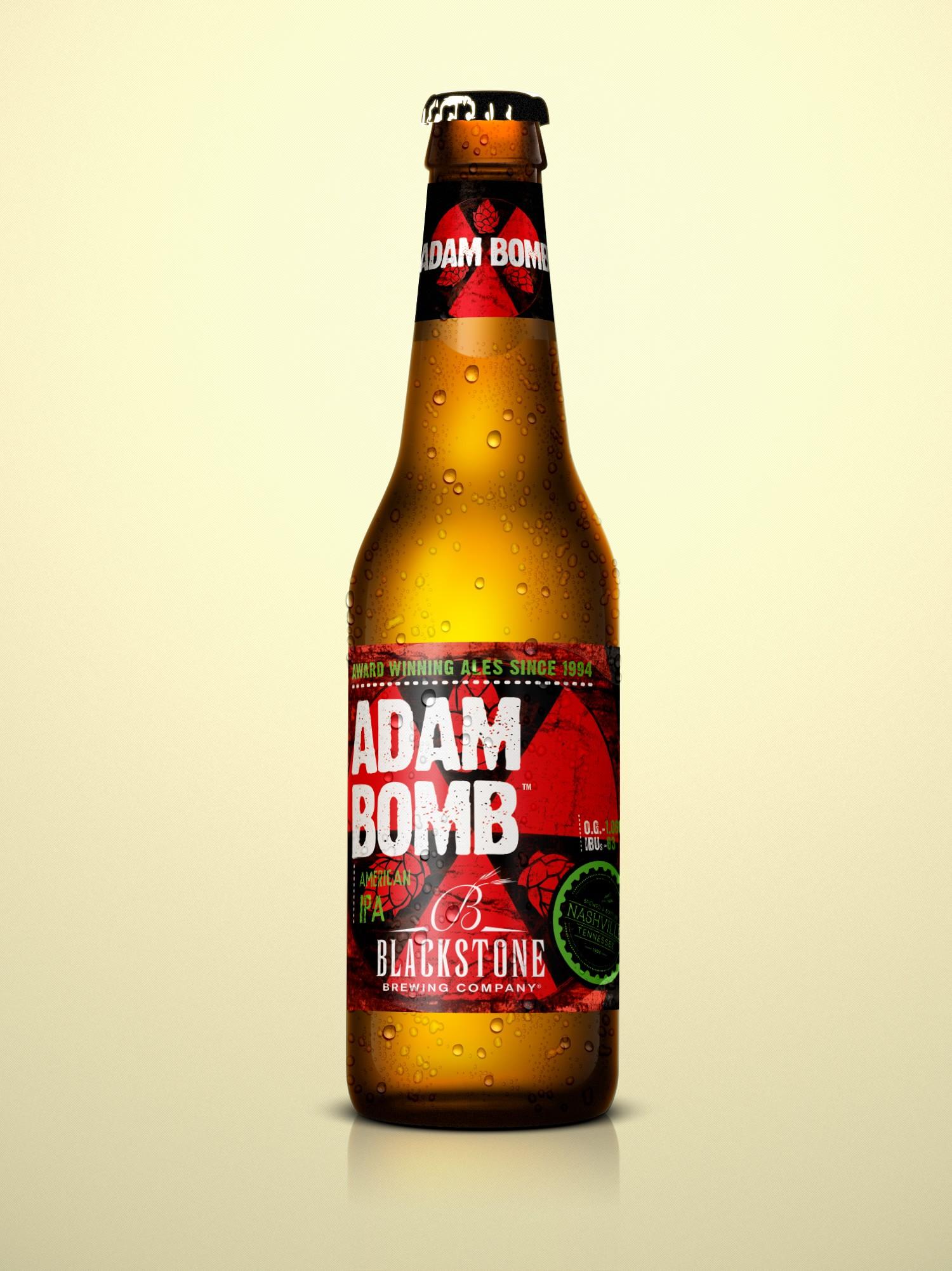 Blackstone Brewing Company Adam Bomb Bottle Label