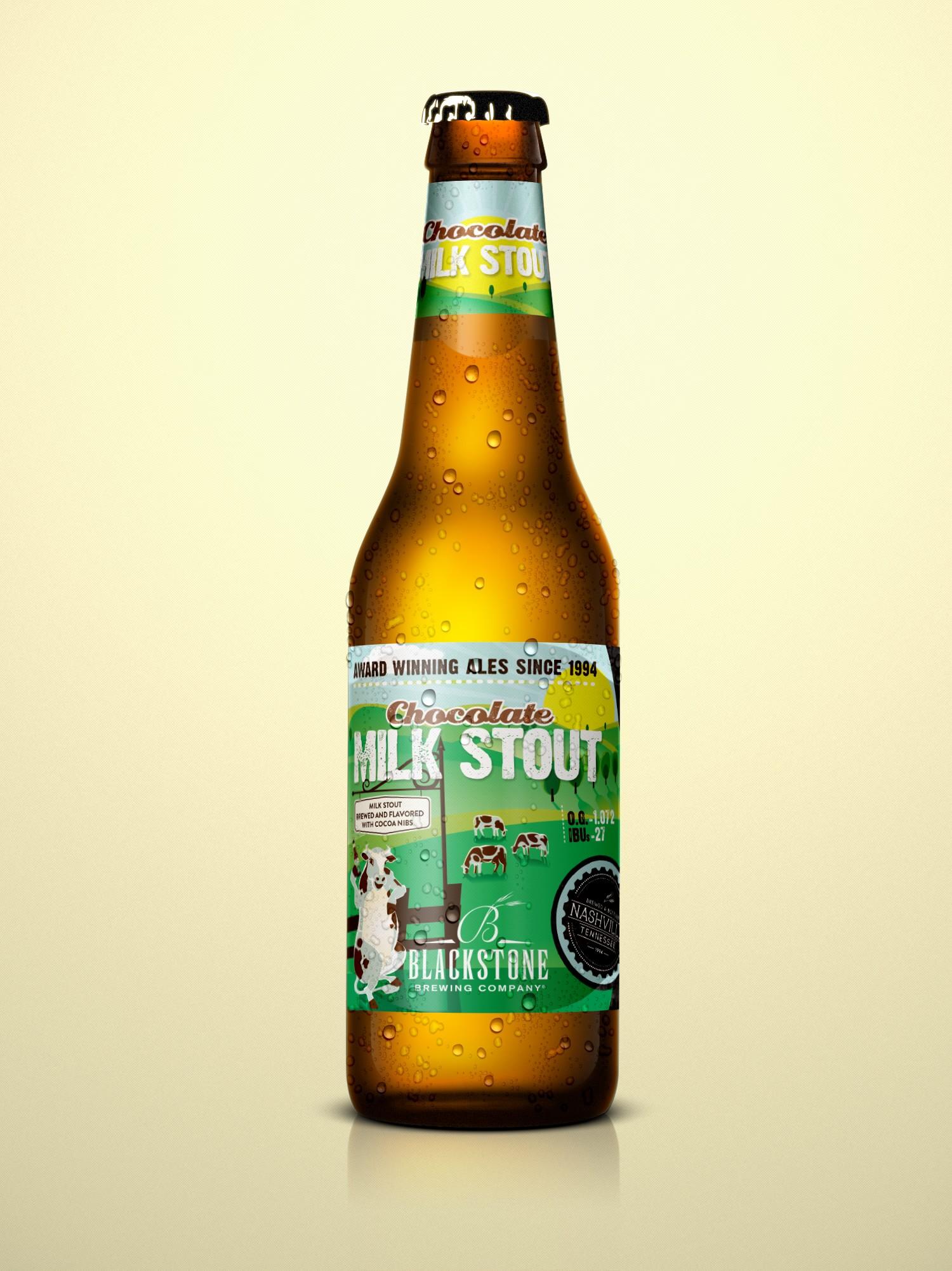 Blackstone Brewing Company Milk Stout Bottle Label