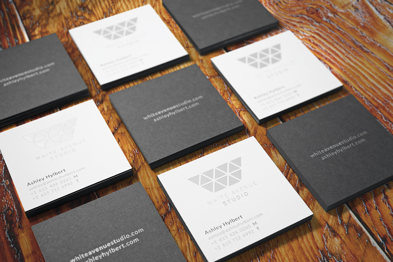 White Avenue Studio Business Cards