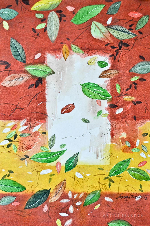 "Nasreen Begum, ""Drifting-Leaves-2"""