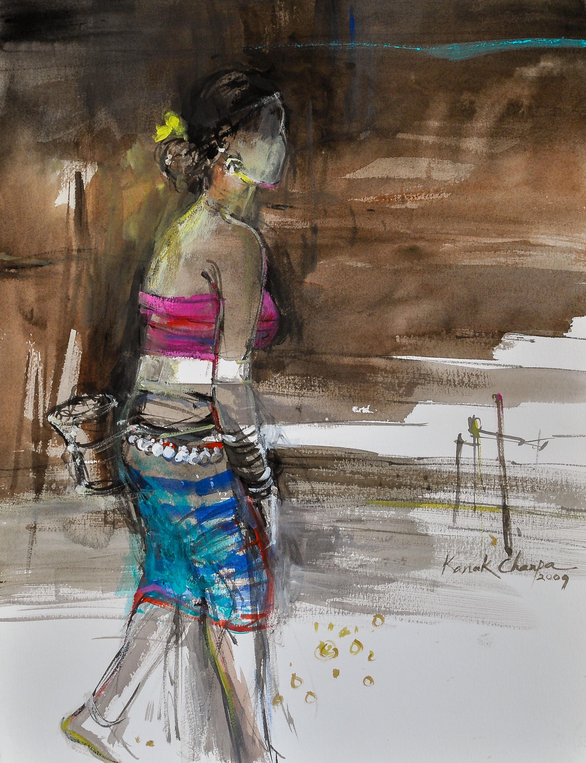 """Kanak Chanpa Chakma, """"Fishing-at-Noon"""""""