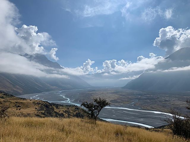 This is an all time favourite view of the mighty Rakaia Valley #rakaiariver #highcountrynz #mountains #lakeheronstation