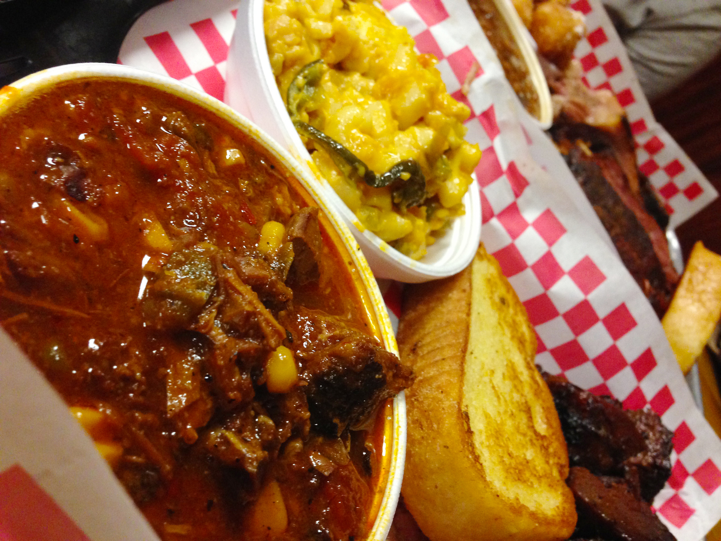 Mac n Cheese and Brunswick stew at Holy Hog in Tampa