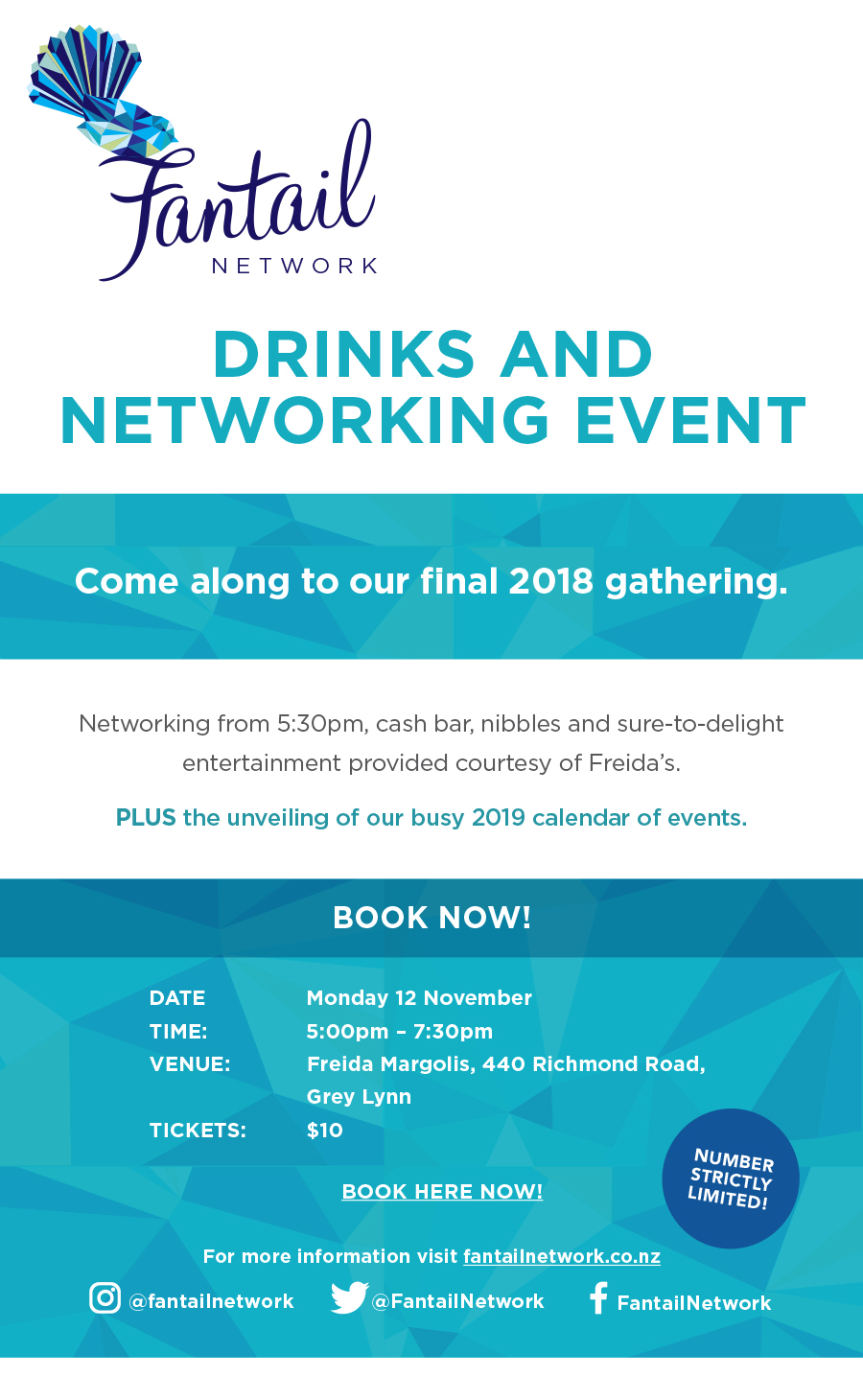 Fantail Networking Drinks Nov 2018