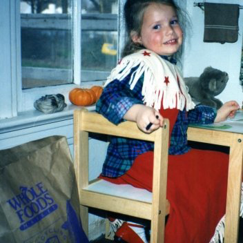 lil me with crayons in the 90s