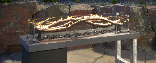 godbyhearthandhome outdoor greatroom company contemporary wave firepit fire pit