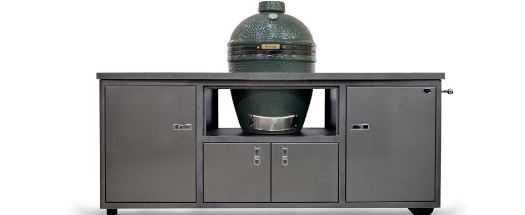 godbyhearthandhome challenger designs custom grill cart for big green egg