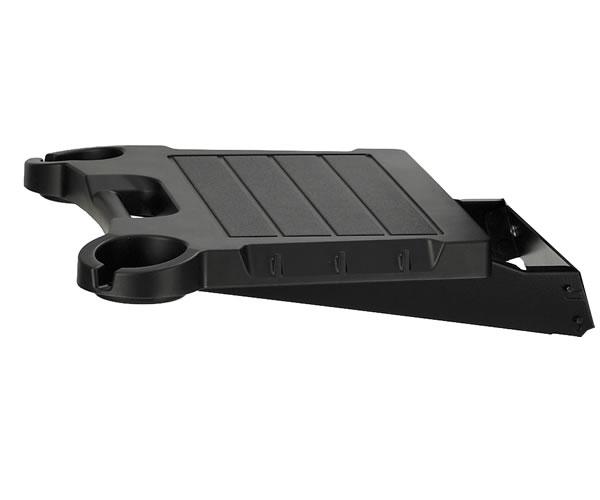 Black Drop Down Side Shelf