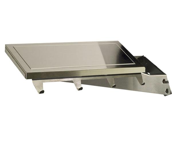 Drop Down Stainless Steel Side Shelf