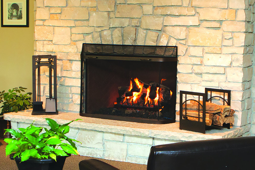 Spark Guard on Fireplace