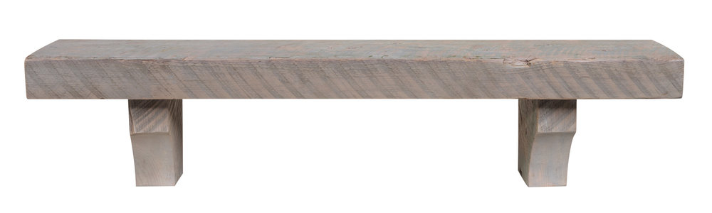 SOLID HEART PINE RECLAIMED WOOD SHELF No. 870 (Driftwood Finish)