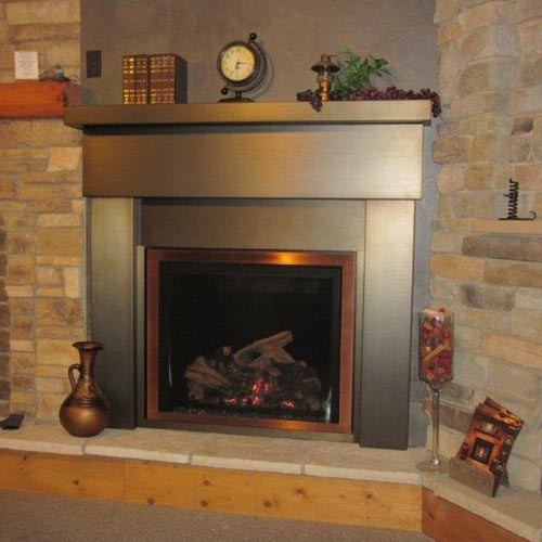 Steel Fireplace Mantels, Stainless Steel Fireplace Mantel