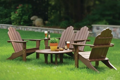 Classic Adirondack Chairs with 36in Westport Coffee Table