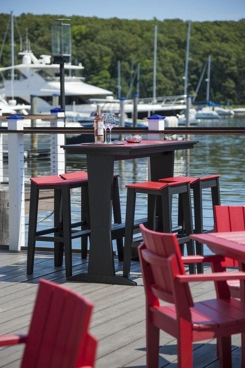 SYM Pub Table with SYM Bar Chairs
