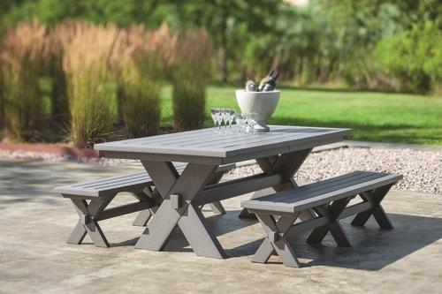 Sonoma 36in Dining Bench in Gray