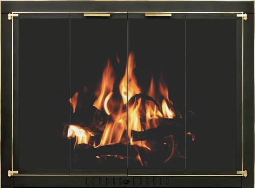 Original with Textured Black Door & Frame, Polished Brass Trim