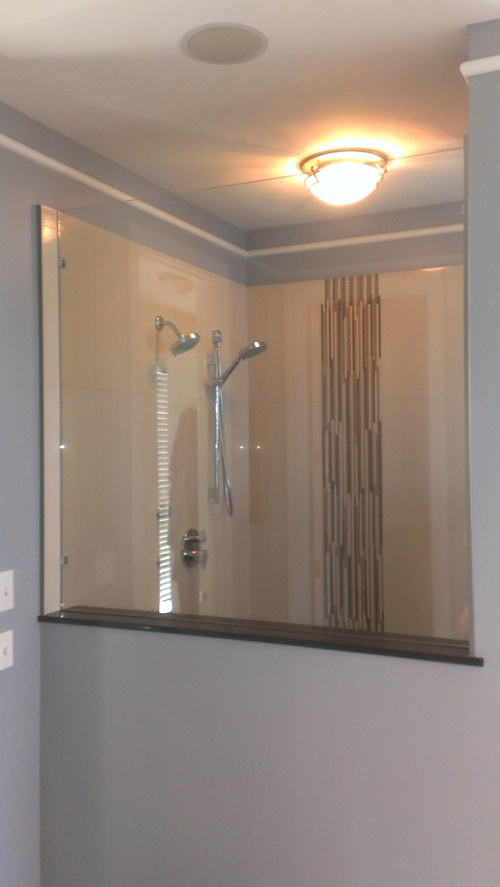 3/8'' Frameless Clear Glass Fixed Panel w/ Clamp System
