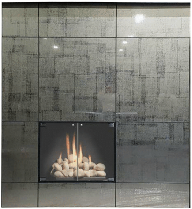 Glass Wall Panel Systems  create a modern look for any wall in your home with different finish and glass styles. Whether installed as an accent wall or to finish the look of a fireplace, these panels will add contemporary elegance to any room. These panels utilize the same mounting system and pattern styles as the metal wall systems.