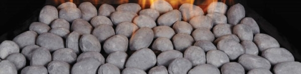Grey Ceramic Fiber Pebbles for Fireplace